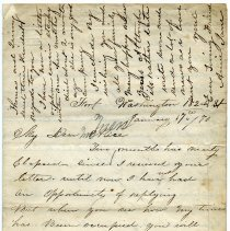 Image of ALS: Annie Jane, Fort Washington, 182nd St. [N.Y.C.], to Alice, January 17, 1870. - Letter