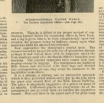 Image of article: The Detained Immigrant, Harper's Weekly, August 26, 1893, pg 821