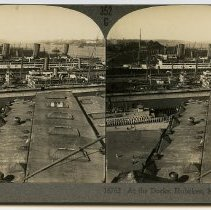 Image of Stereoview: 352G - 16762. At the Docks, Hoboken, N.J. Keystone View Co. N.d., ca. 1915-1930. - Stereoview