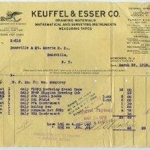 Image of Keuffel & Esser invoice