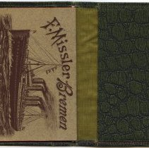 Image of wallet: inside back  with printed journal (back cover, pg [32])