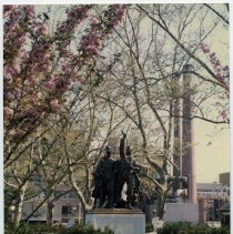 Image of Color photo of Soldiers & Sailors Monument in Elysian Park, Hoboken, June 1982. - Print, Photographic