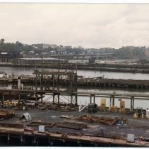 Image of Color photo of former Todd Shipyards, Hoboken; Weehawken Cove, Oct. 1983. - Print, Photographic
