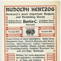 Image of Rudolph Hertzog English language ad pg 31