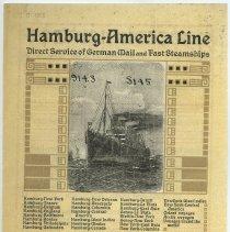 Image of Hamburg-America Line advertisement