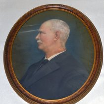 Image of Portrait of James Smith, Treasurer, City of Hoboken. N.d., ca. 1910s-1950s? Pastel from 1890s photo portrait? - Artwork
