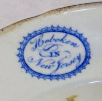 Image of detail - plate bottom - mark: Hoboken in New Jersey