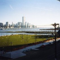 Image of Color photos, 3, of Frank Sinatra Memorial Park from Castle Point near 6th St., Hoboken, Spring 1998. - Print, Photographic