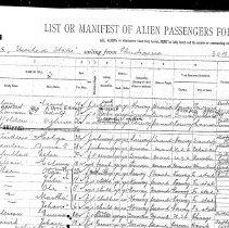 Image of Nilsen, line 1, steerage manifest, arrival Nov. 10, 1914 pg 1 of 2