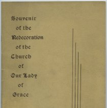 Image of Booklet: Souvenir of the Redecoration of the Church of Our Lady of Grace. Hoboken, N.J. 1941. - Commemorative