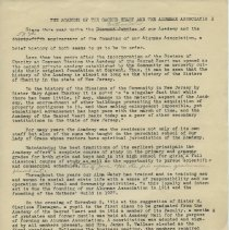 Image of Typescript: The Academy of the Sacred Heart and the Alumnae Association. (Hoboken, 1953, 1967.) - Typescript