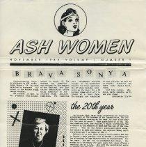 Image of enclosure 2: offprint of ASH Women, Vol. 1, No. 1, November 1982