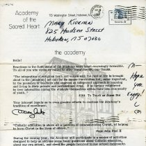 Image of Newsletter: The Academy. Alumnae Association of The Academy of the Sacred Heart, Hoboken, 2nd issue, n.d., (Dec. 1982). - Newsletter