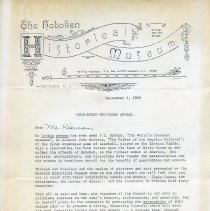 Image of Hans letter pg 1 of 2