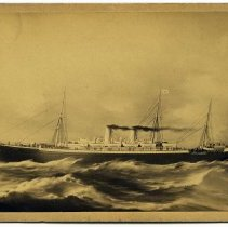 Image of Cabinet photo of painting of the S.S. Havel, North German Lloyd Line. 1893. - Photograph