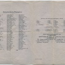 Image of pp [2-3] passenger list; officers; (page [4] blank)