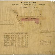 Image of Assessment Map for Grading of Grand St. Newark to First 1866