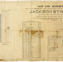 Image of Map & Schedule for the reassessment for Regulating Grading Flagging Etc.Jackson St. Between 1st & 2nd Sts. Hoboken 1876. - Map