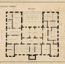 Image of City Hall Hoboken Basement (ground floor) plan 1880
