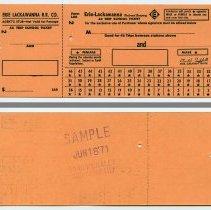 Image of Ticket, transportation: Erie-Lackawanna R.R. 46 Trip School Ticket, 1971. - Ticket, Transportation