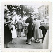 Image of Anne Amoroso near Saints Peter & Paul Church 1953