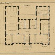 Image of Hoboken City Hall First Floor plan, 1880, version 1
