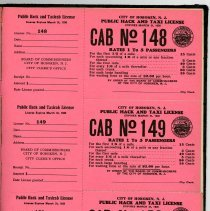 Image of full page: front of unissued licenses