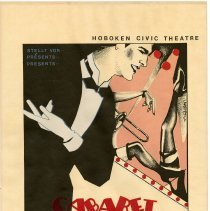 Image of Poster: Cabaret, the musical. The Hoboken Civic Theatre. Union Club, Hoboken. Sept., Oct., no year, probably 1983.