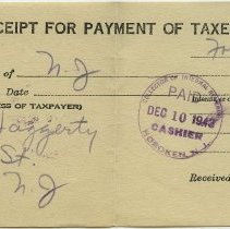 Image of receipt for payment of federal income tax