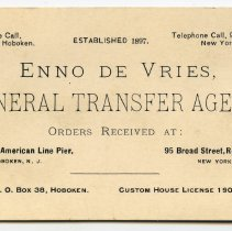 Image of business card: Enno de Vries