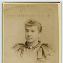 Image of Cabinet photo of young woman posed in photographer's studio, Hoboken, Nov. 8, 1892. - Photograph, Cabinet