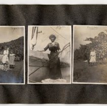 Image of 047 Leaf 26 - 3 Photos Mrs. Raffetto Sr On Ship + Et Al 1911