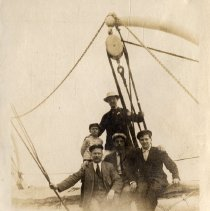 Image of 005 Leaf 2 - Right Photo Men Posed At Lifeboat 1908