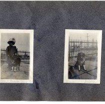 Image of 074 Leaf 40-  2 Photos - Hoboken Park 1913 Hudson River
