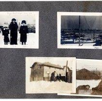 Image of 082 Leaf 44 - 4 Photos - Hoboken - Elysian Park - Stevens Barn - Snow 1914