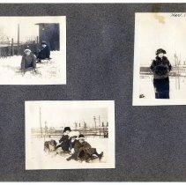 Image of 084 Leaf 45 - 3 Photos - Hoboken - Elysian Park - Snow - 1914