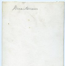 Image of back with penciled location
