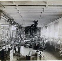 Image of 22 Newark interior, bag frame manufacturing