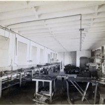 Image of 24 Newark interior, bag frame manufacturing