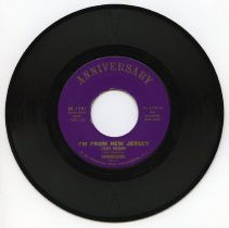 """Image of Record: """"I'm From New Jersey"""". Red Mascara; Chordblenders. Anniversary Records, Phillipsburg, N.J. (1961). - Record, Phonograph"""