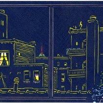 Image of Art, cut-paper: Kitchen View. By Hiro Takeshita, Hoboken, 2005. - Artwork