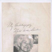 Image of Memoir: My Autobiography. Mabel Bolles Sheehan Things I Can Remember as a Child in Hoboken, N.J. 1898-1906. (Canton, N.Y., 1957, 1958, 1961) - Memoir
