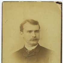 Image of Cabinet photo of Frank Eugene Harvey (1858-1921), uncle of Mabel Bolles of Hoboken, n.d., ca. 1885-1895. - Photograph, Cabinet
