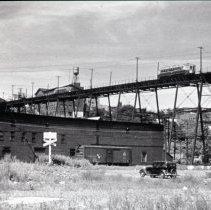 Image of B+W photo negative of PSCT elevated trestle in Hoboken, n.d., ca. 1938. - Negative, Roll Film
