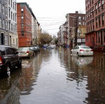 Image of Color photos, 7, of flooding from Hurricane Sandy at Willow Ave. & 8th St., Hoboken,  [probably Oct. 30, 2012]. - Photograph