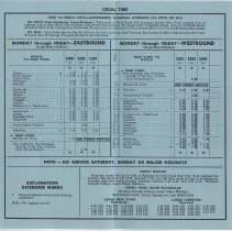 Image of 3: interior, schedule, Effective April 28, 1963