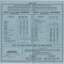 Image of 2: interior, schedule; Effective Oct. 28, 1962