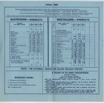 Image of 1: interior, schedule, Effective Oct. 30, 1960