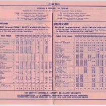 Image of 1: Effective April 30, 1961, side 1, inside, schedule