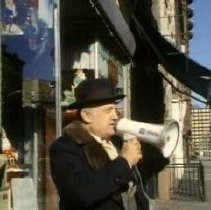 Image of Counter Parts - Nicole Lucas5: Mayor Tom Vezzetti with bullhorn